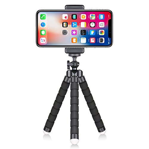 Neewer Portable Flexible Phone Tripod with 1/4-inch screw mount and Cellphone Clip for iPhone, Samsung Huawei Android Smartphone and DSLR Camera for Photo Video Portrait Photography from Neewer
