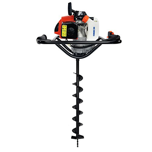 XtremepowerUS V-Type 63CC 2 Stroke Gas Post Hole Digger O...