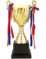 STOBOK Gold Trophy Cup Large Trophy for Sports Tournaments,Competitions, 24.5cm