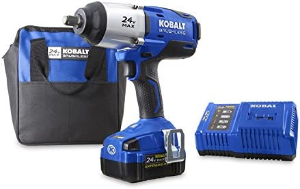 Kobalt 24-Volt Max-Volt 1 2-in Drive Cordless Impact Wrench Item 672825