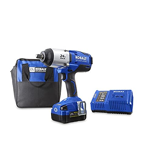 1 2 Cordless Impact >> Kobalt 24 Volt Max Volt 1 2 In Drive Cordless Impact Wrench Item 672825