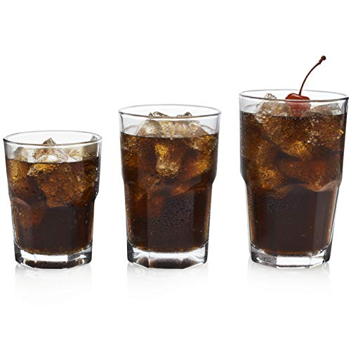 Libbey Boston 18-Piece Tumbler, Rocks and Juice Glass Set