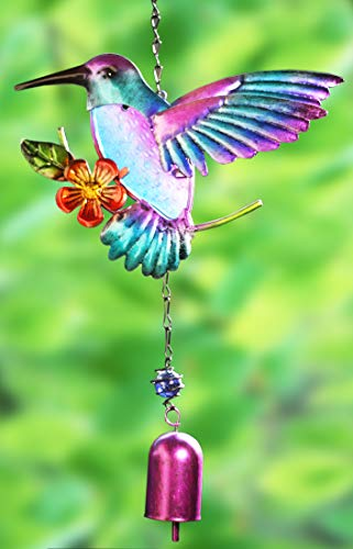 Colorful Bird Flower Wind Chime Bells for Home Decor Paradigm Pictures