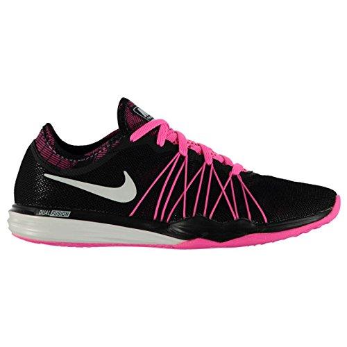 Nike Dual Fusion TR Hit Print Laufschuhe Blk/Wht/Pnk Damen Turnschuhe Sneakers