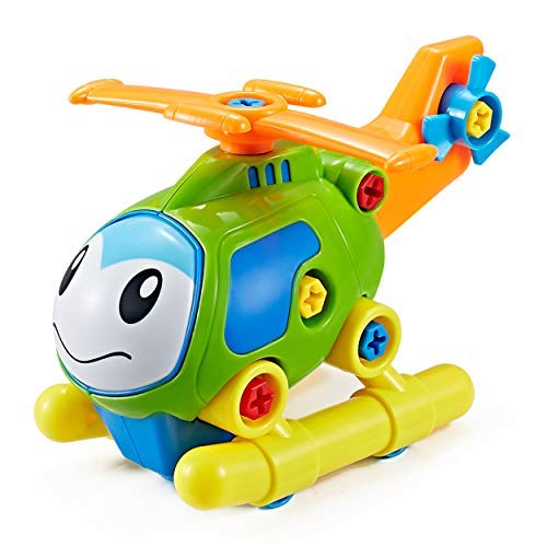 Think Gizmos Take Apart Toy Mission Helicopter Kit for Kids TG711 - Build Your Own Car Kit Toy for Boys & Girls Aged 3+ ()