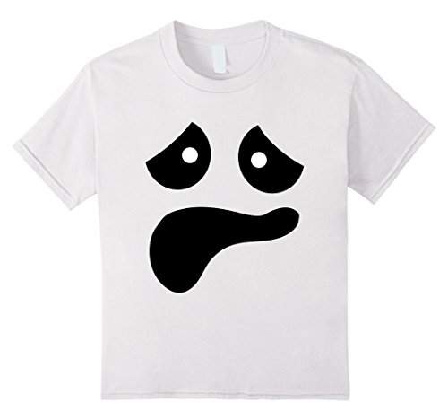 Kids Funny Scared Ghost Face Halloween Shirt | Cool Ghost Costume 4 (Awesome Ghost Costume)