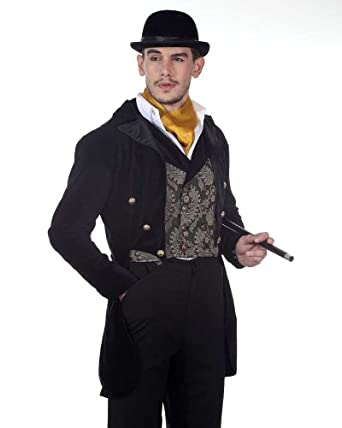 Men's Steampunk Jackets, Coats & Suits Steampunk Victorian Gentlemans Tailcoat Costume  AT vintagedancer.com