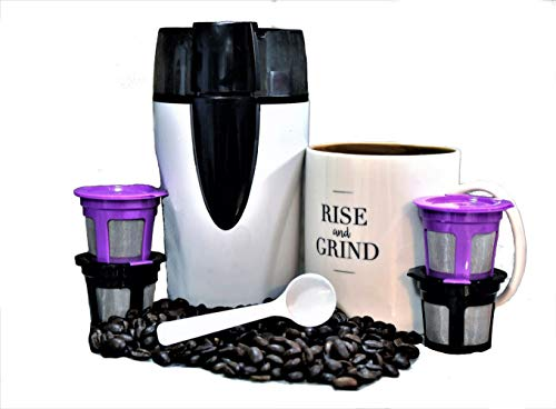 Coffee Brew Kit with Reusable Refillable KCups and Mug Money Saving Solution Universal Compatibility with 1.0 2.0 Keurig Machines Save the Earth Drink Tastier Coffee
