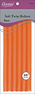 Annie 01208 Soft Twist Rollers, Orange, 6 Count