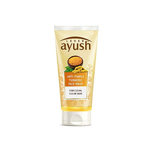 Ayush Anti Pimple Turmeric Face Wash, 40 grams, India (Best Face Wash In India For Pimples)