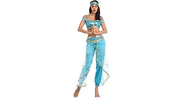 fagginakss Disfraz de Jasmine Mujer Vestido Traje Princesa para ...