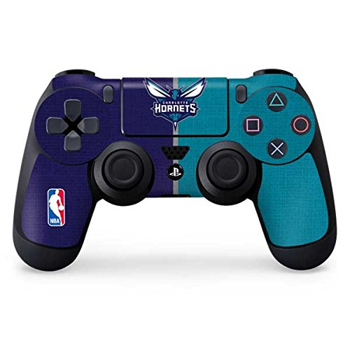Skinit Charlotte Hornets PS4 Controller Skin - NBA Skin - Ultra Thin, Lightweight Vinyl Decal Protection ()