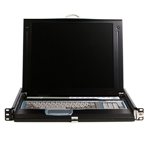 StarTech.com 1U 17-Inch  Rack Mount LCD Console with Integrated 16 Port IP KVM Switch (CABCONS1716I) by StarTech (Image #1)