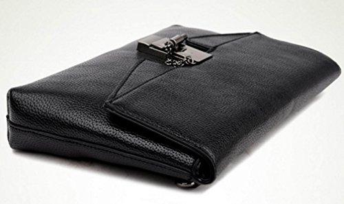 FZHLY Nuova Signora Europa E La Spalla In Pelle Stati Uniti PU Messenger Bag,Black