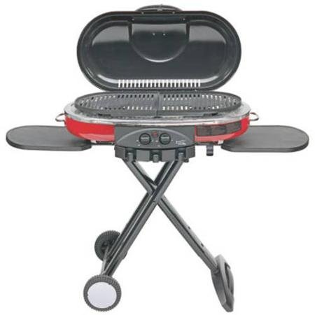 - Coleman RoadTrip LXE Portable 2-Burner Propane Grill - 20,000 BTU, Red Color