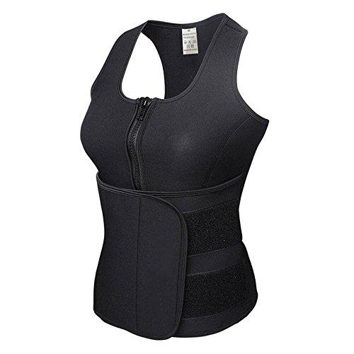37c2292937c5b Trainer Sweat Belt Sauna Suit Tops Sport Body Shaper Slimming Corset Vest -  (Black)