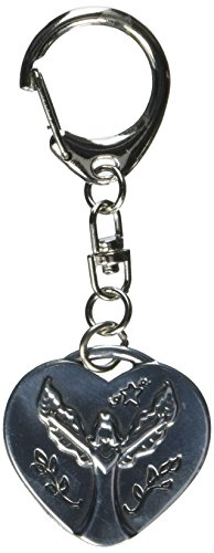 Cathedral Art KR308 Guardian Angel Heart Decorative Key Ring, -