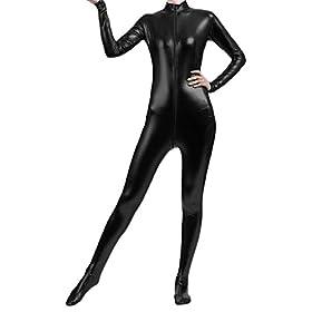 Shiny Metallic Unitard Bodysuit Catsuit 41RUJwgOsJL