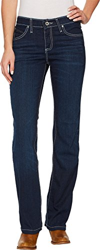 - Wrangler Women's Cowgirl Cut Booty Up Ultimate Riding Q- Jeans Denim 9W x 34L