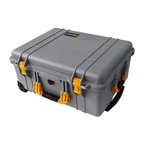 シルバーペリカン1560ケース。 イエローハンドルラッチ、フォーム、ホイールが付属しています。 B07JNR5PQH