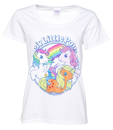 Womens Classic My Little Pony White Scoop Neck T Shirt