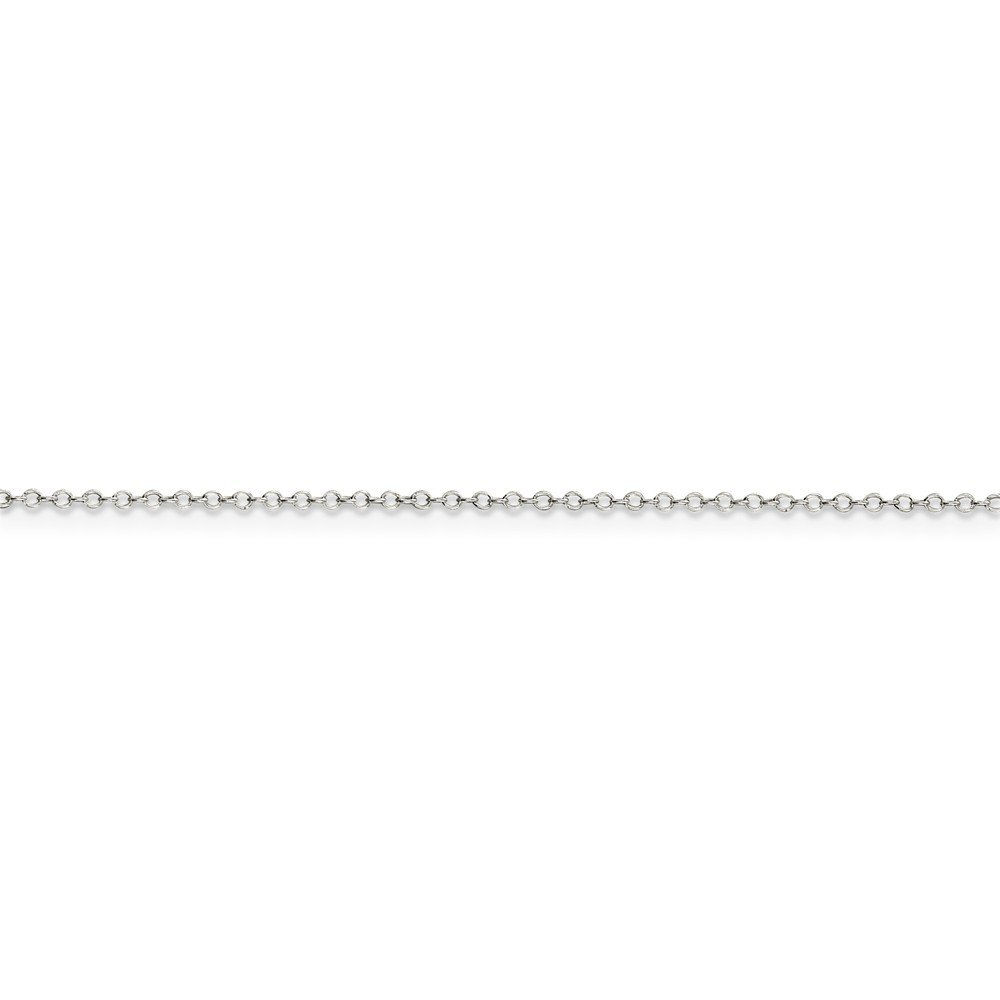 10in x 1mm 10 Mia Diamonds 925 Sterling Silver Solid 1mm Cable Anklet Bracelet
