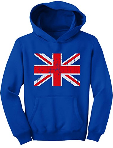 Tstars TeeStars - Vintage UK Flag Retro United Kingdom Style Youth Hoodie X-Large ()