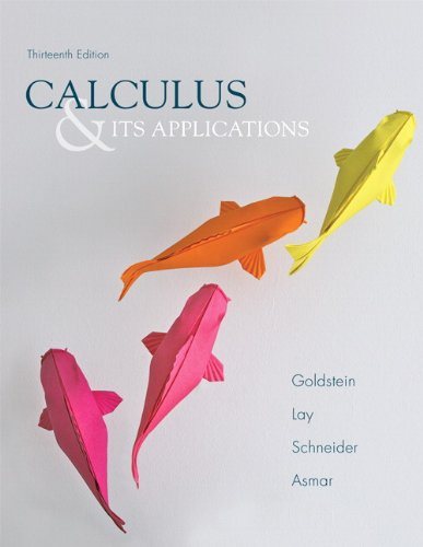 Books : Calculus & Its Applications (13th Edition)