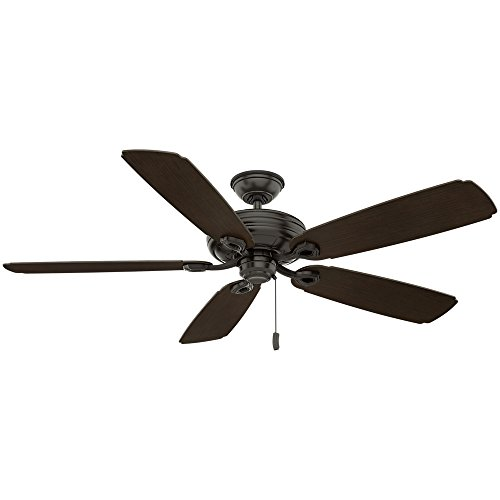 Casablanca Indoor Outdoor Ceiling Fan, with pull chain control – Charthouse 60 inch, Nobel Bronze, 55074