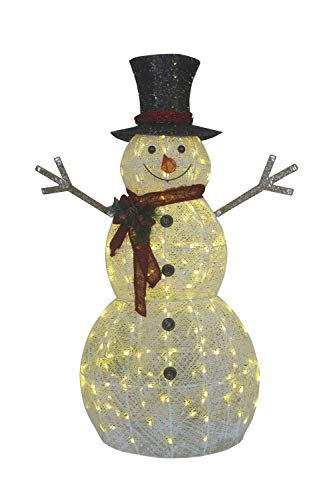 Outdoor Snowman With Lights in US - 3