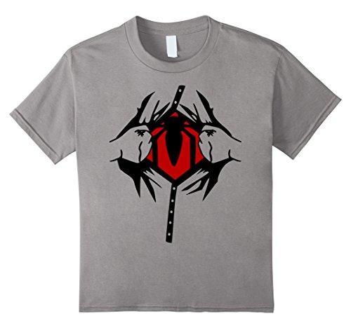 Female Superhero Costumes For Kids (Kids Halloween Superhero Costume Man Woman Kids T shirt 6 Slate)