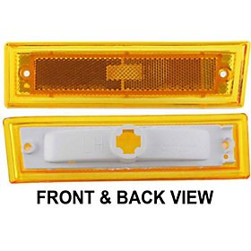 CHEVY SUBURBAN 81-91 FRONT SIDE MARKER LAMP LEFT SIDE, Lens and Housing