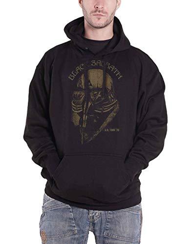 Black Sabbath Hoodie Us Tour 78 Band Logo Official Mens Black Pullover Size L