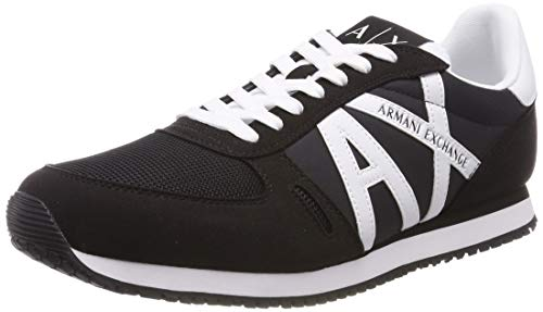 Armani Lace Scarpe Logo Blu Exchange white Da Sneaker 00986 Up blue Basse Uomo Ginnastica With faxSrfn