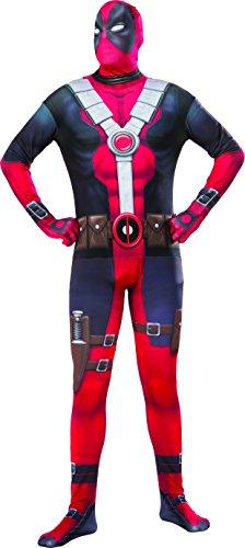Marvel Men's Deadpool 2nd Skin Costume, Multi, X-Large (Adult Deadpool Costume)
