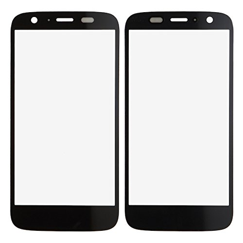 BisLinks® New Black Front Outer Screen Glass Lens Replacement For Motorola MOTO G - Scratched To How Lenses Fix