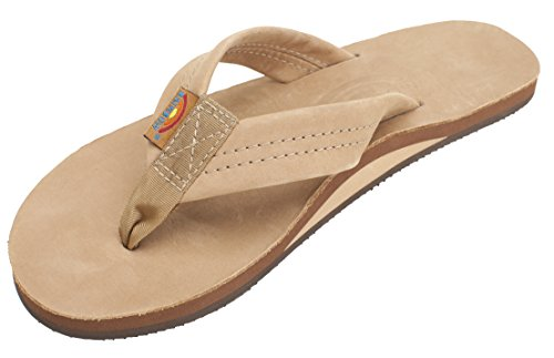 Rainbow Wide Leather Strap Sandals - Sierra Brown Small (5.5-6.5 (Brown Leather Woman Sandal)