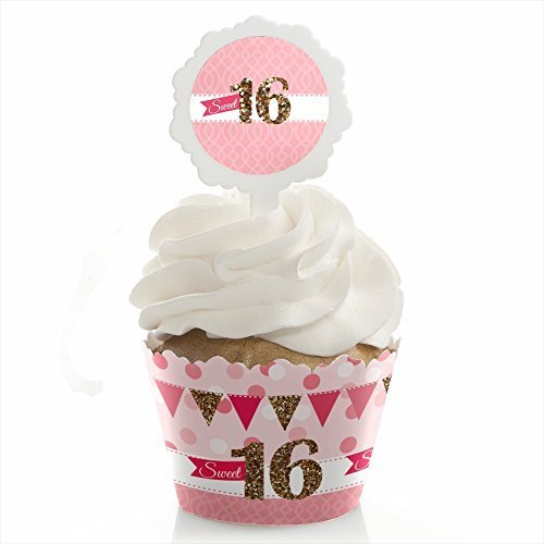 Sweet 16 Cupcake Wrapper Birthday