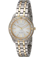 Citizen Womens EM0244-55A Dress Two-Tone Stainless Steel Watch