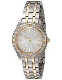 Citizen Watches Women's EM0244-55A Carina Two Tone Stainless Steel Watch