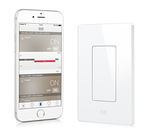 Elgato Eve Light Switch, Connected Wall Switch with Apple HomeKit technology, Bluetooth...