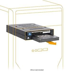 """flexiDOCK MB522SP-B Rack Amovible, caddu, pour 2 SSD 2.5"""" SATA/SAS Dock sans Plateau Hot Swap pour Baie Externe 3.5"""" Double Baie SAS/SATA HDD/SSD 2.5"""" pour Baie de Lecteur Externe 3.5"""" 12"""