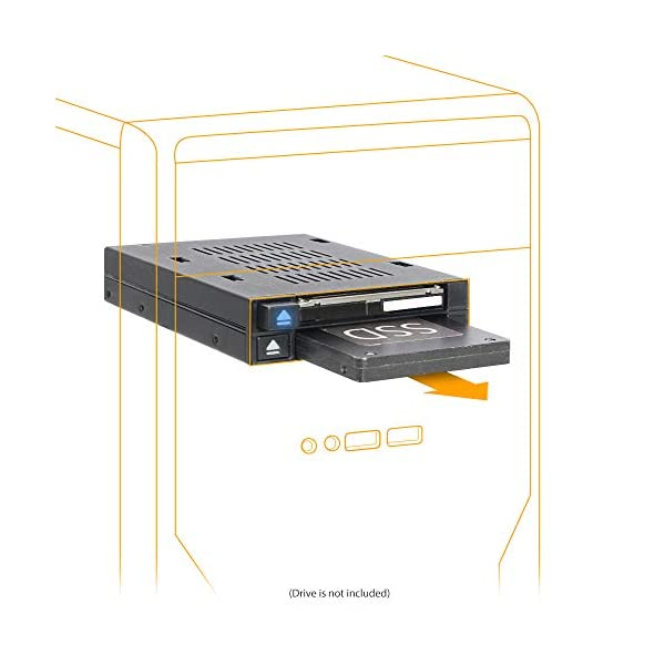 """flexiDOCK MB522SP-B Rack Amovible, caddu, pour 2 SSD 2.5"""" SATA/SAS Dock sans Plateau Hot Swap pour Baie Externe 3.5"""" Double Baie SAS/SATA HDD/SSD 2.5"""" pour Baie de Lecteur Externe 3.5"""" 1"""