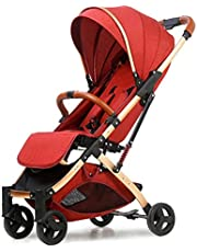 Anershi baby stroller, maroon color