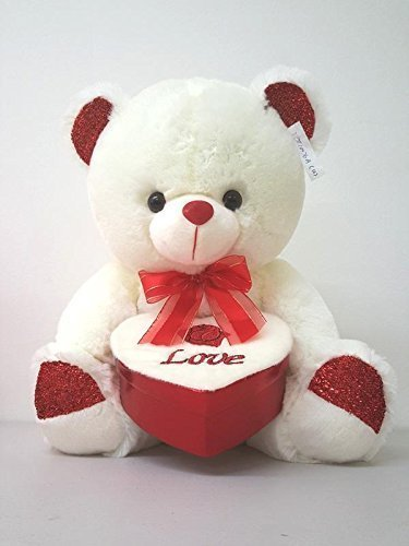 "14/"" Teddy Bear Plush Sparkle LOVE Heart Valentine/' Mother/' Birthday"