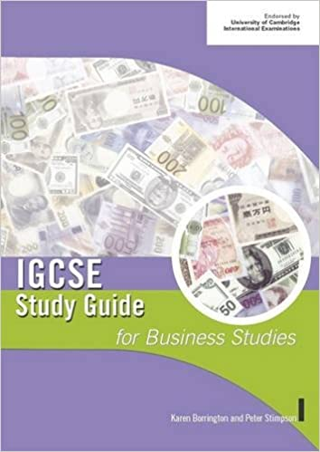 IGCSE Study Guide for Business Studies (IGCSE Study Guides): Peter ...