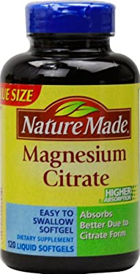 Nature Made Magnesium Citrate Softgels, 120 Count