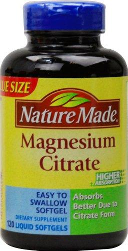 Nature Made citrate de magnésium, 120 gélules comte