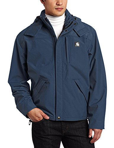 Carhartt Men's Shoreline Jacket Waterproof Breatheable Nylon, Navy, Large (Best Waterproof Jacket Brands)