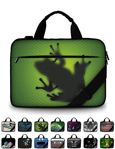 """Funky Planet 15"""" 15.6"""" inch Shoulder Laptop Messenger Solid Strong Canvas Sleeve Case Bag Briefcases Compatible with Apple MacBook air pro Dell Lenovo Samsung Asus Computer Tablet or Ipad"""